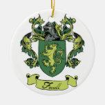 Ornamento del escudo de la genealogía de la famili ornamento de reyes magos