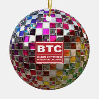 Ornamento del espejo de la bola de discoteca del adorno redondo de cerámica