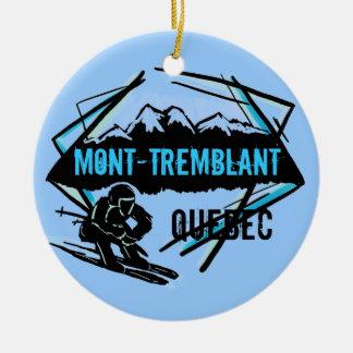 Ornamento del esquí de Mont Tremblant Quebec Adorno Navideño Redondo De Cerámica