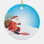 Ornamento del esquí de Santa Ornamento Para Reyes Magos