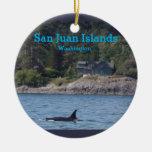 Ornamento del estado de Washington de las islas de Adorno Navideño Redondo De Cerámica