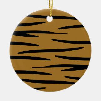 Ornamento del estampado de animales adorno navideño redondo de cerámica