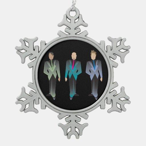 Ornamento del estaño de los caballeros solamente adorno de peltre en forma de copo de nieve