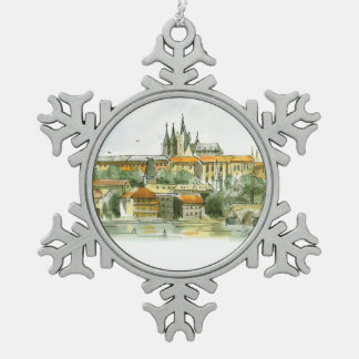 Ornamento del estaño del castillo de Praga Adorno