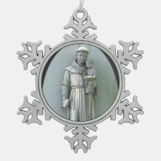 Ornamento del estaño del ~ de Anthony y de Jesús Adornos