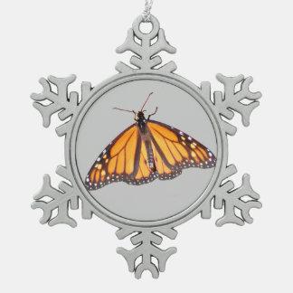 Ornamento del estaño del ~ de la mariposa de adorno de peltre en forma de copo de nieve