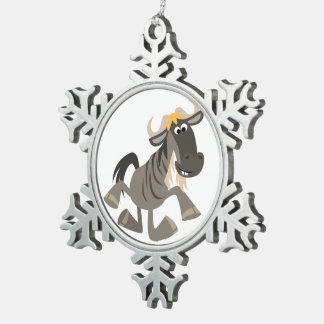 Ornamento del estaño del Wildebeest del baile de Adorno De Peltre En Forma De Copo De Nieve