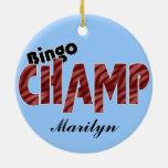 Ornamento del estilo de Vegas del campeón del camp Adornos De Navidad