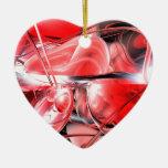 Ornamento del extracto de la locura de la sangre ornaments para arbol de navidad