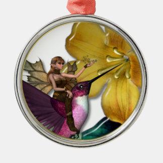 Ornamento del Faery del colibrí del KRW Adorno De Navidad