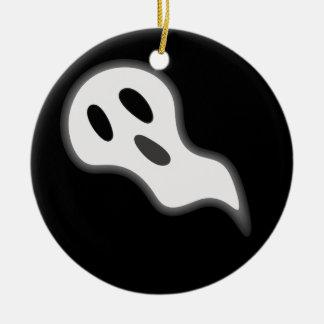 Ornamento del fantasma de Halloween Adorno Navideño Redondo De Cerámica