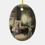 Ornamento del fantasma de Jacob Marley Adorno Navideño Ovalado De Cerámica