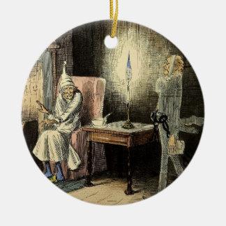 Ornamento del fantasma de Scrooge un Marley del Adorno Redondo De Cerámica