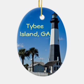 Ornamento del faro de la isla de Tybee Ornamentos De Reyes Magos