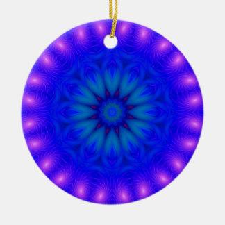 Ornamento del fiesta 010 adorno navideño redondo de cerámica
