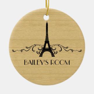 Ornamento del Flourish del francés del ébano Ornaments Para Arbol De Navidad