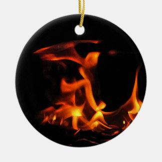Ornamento del fuego del baile adorno redondo de cerámica