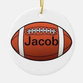 Ornamento del fútbol adorno navideño redondo de cerámica