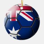 Ornamento del fútbol de Australia Adorno Redondo De Cerámica