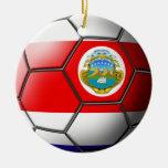 Ornamento del fútbol de Costa Rica Adorno Navideño Redondo De Cerámica