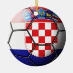 Ornamento del fútbol de Croacia Ornamentos Para Reyes Magos