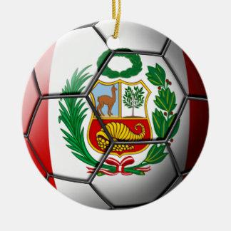 Ornamento del fútbol de Perú Ornamentos Para Reyes Magos