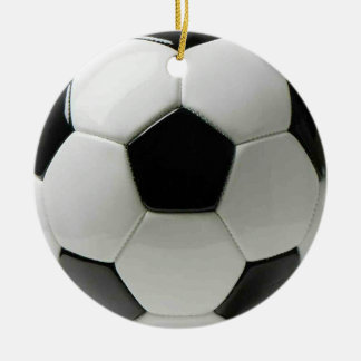 Ornamento del fútbol ornamento para arbol de navidad