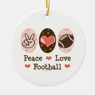 Ornamento del fútbol del amor de la paz ornamentos de reyes magos