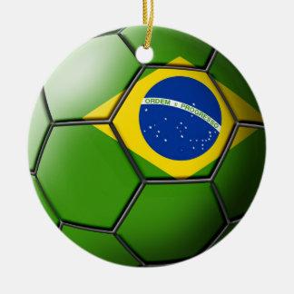 Ornamento del fútbol del Brasil Ornamentos De Reyes