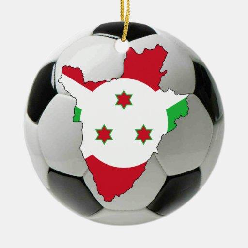 Ornamento del fútbol del fútbol de Burundi Adorno Redondo De Cerámica