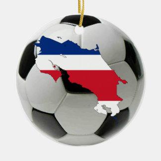 Ornamento del fútbol del fútbol de Costa Rica Adornos De Navidad