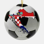 Ornamento del fútbol del fútbol de Croacia Adorno De Reyes