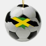 Ornamento del fútbol del fútbol de Jamaica Adorno De Navidad