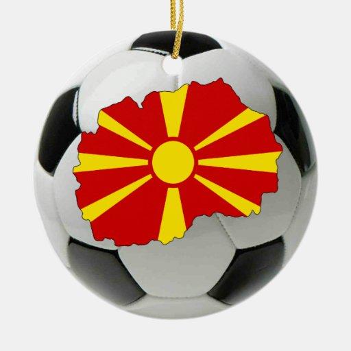 Ornamento del fútbol del fútbol de Macedonia Adorno Redondo De Cerámica