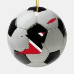 Ornamento del fútbol del fútbol de Trinidad and Adorno Redondo De Cerámica