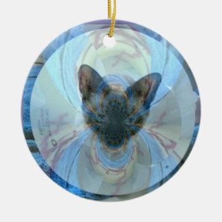 Ornamento del gatito del rescate del superviviente ornamente de reyes