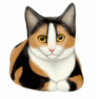 Ornamento del gato de calicó escultura fotografica