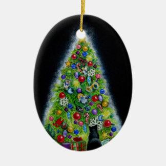 Ornamento del gato del árbol de navidad adorno para reyes