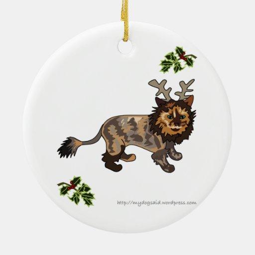 Ornamento del gato del dibujo animado del gatito d ornamento para arbol de navidad