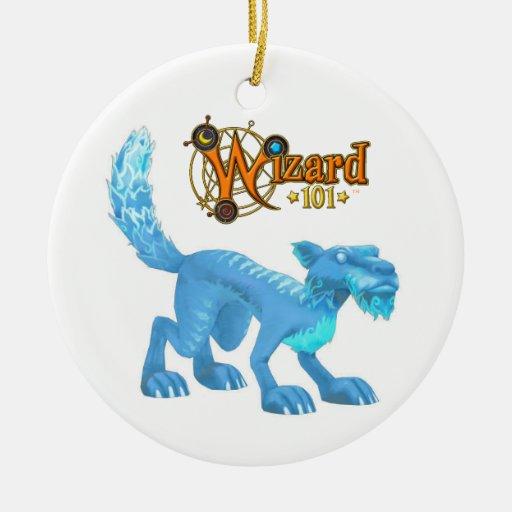 Ornamento del gato del hielo ornamentos para reyes magos