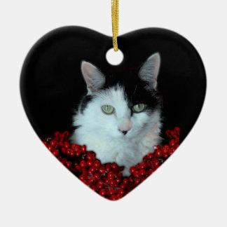 Ornamento del gato del navidad ornamentos de reyes magos