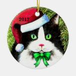Ornamento del gato del navidad del gorra de Papá N Ornamento De Reyes Magos