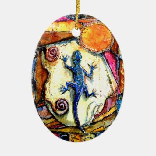 Ornamento del Gecko de PMACarlson Ornamento Para Arbol De Navidad