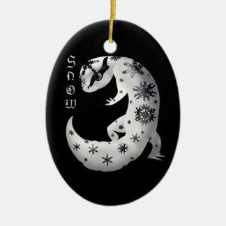 Ornamento del Gecko del copo de nieve Adornos