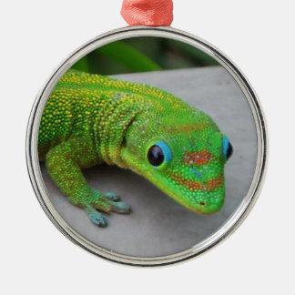 Ornamento del Gecko del día del polvo de oro Ornamento De Navidad