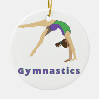 Ornamento del gimnasta adorno redondo de cerámica