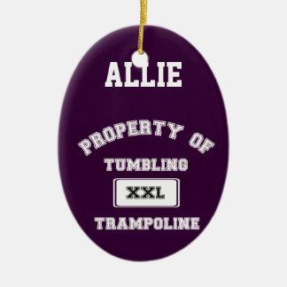 Ornamento del gimnasta del trampolín de adorno de navidad