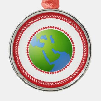 Ornamento del globo de Jesse Adorno Redondo Plateado