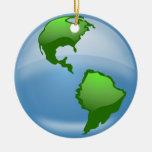 ornamento del globo del mundo ornamentos para reyes magos
