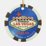 Ornamento del gran apostador de Las Vegas Ornamento De Navidad